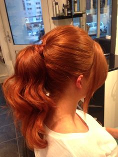 Pony .. Waves .. Copper hair ..