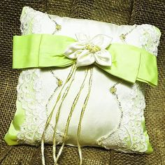 Ring Bearer Pillow Made from Upcycled Wedding Dresses