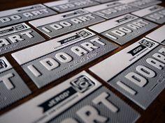 Letterpress Business Cards Letterpress Business Cards on cotton paper. Letterpress Business Cards by Mi. Artist Business Cards, Cool Business Cards, Business Card Design Inspiration, Typography Inspiration, Creative Typography, Graphic Design Typography, Graphic Art, Bussiness Card, Leaflet Design
