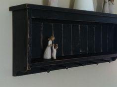 distressed wood shelf primitive home decor by beecharmerprim, $85.00