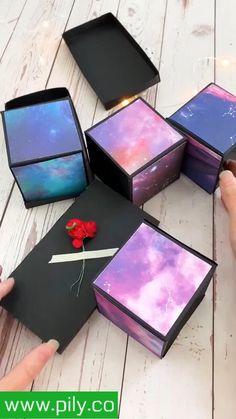 Diy Crafts Hacks, Diy Crafts For Gifts, Diy Crafts Videos, Creative Crafts, Diy Creative Cards, Creative Box, Card Crafts, Cool Paper Crafts, Paper Crafts Origami