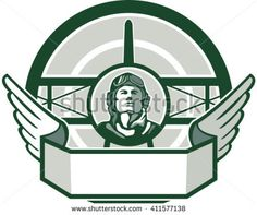 Buy World War One Airman Biplane Circle Retro by patrimonio on GraphicRiver. Illustration of a vintage world war one pilot airman aviator bust with spad biplane fighter plane front in background. Air Festival, Vintage Designs, Vintage Ideas, Fighter Pilot, World War One, One Pilots, Memorial Day, Vintage Cars, Cafes