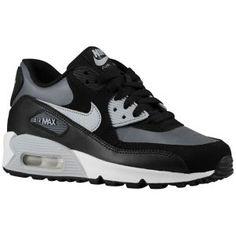 Air Max 90, Nike Air Max, Air Max Sneakers, Sneakers Nike, Black And White, White Wolf, Dark Grey, School Shoes, Foot Locker