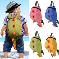 Cotton Dinosaurs School Bags Kids Backpack Boys Girls Cartoon Animals Bag  New 5f43ce58cbaae