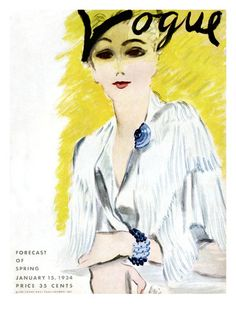 "Vogue Cover - January 1934  Carl ""Eric"" Erickson"