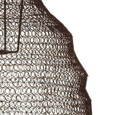 Nkuku - Jatani Wire Lamp Shade - Oval - Rust