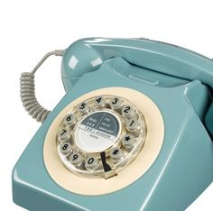 Retro PTT telefoon 746 light blue