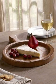 Vintage Spanish Olive Tray - Wood Cheese Tray, Wood Serving Board | Soft Surroundings