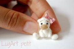 Little Handfuls Mini Bears...such tiny and cute needle felted ...