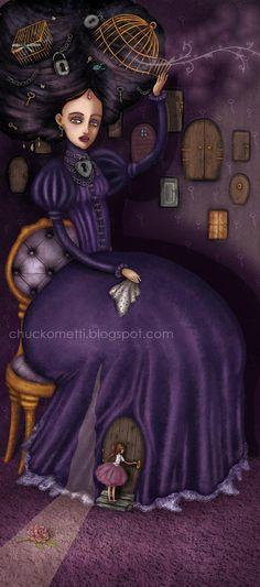 Madame Samovar by chuckometti on DeviantArt Pop Surrealism, Source Of Inspiration, Big Eyes, Beautiful Artwork, Interview, Deviantart, Pictures, Fictional Characters, Keys