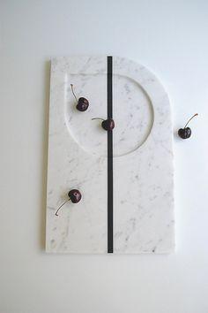 Stylish Elegant Modern Marble TrayWhite Marble by Sevenstone