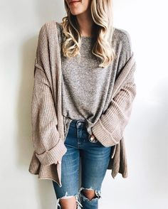"Olivia • LivvyLand ""Casual, cozy layers for today's OOTD! ❤️ Love this light cardigan with THE softest v-neck! My shirt…"":"
