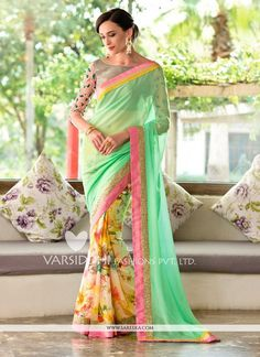 Capture the exuberance of womanhood in its full glory that will bring out your fragility and femininity. Add grace and charm to your appearance in this beautiful multi colour georgette designer saree....