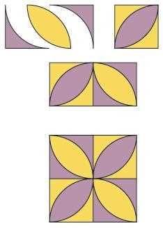 Figure 1: Construction diagram and complete block orange peel block