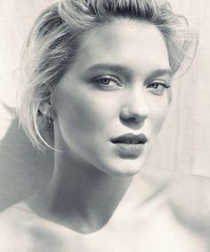 Lea Seydoux. I love watching her movies. I don't know how she does it... she is stunning.