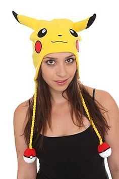 Pikachu hat :O Pikachu Mascot Costume, Pikachu Hat, Yellow Beanie, Hot Topic Clothes, Costumes For Sale, Diy Hat, Rock T Shirts, Cool Hats, Beanie Hats