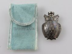 Tiffany & Co. - Owl Perfume Bottle - Sterling Silver *No Reserve*