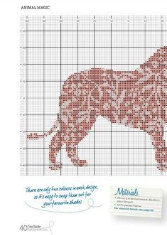Cross-stitch Paisley Lion, part 1.. color chart on part 2 ... Gallery.ru / Фото #48 - DIVERSOS - samlimeq