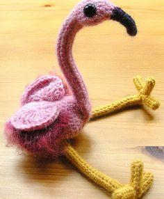 Cute Amigurumi Flamingo