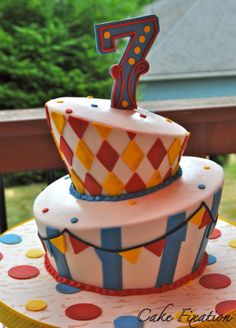 Cake Fixation: Carnival Birthday Party cake
