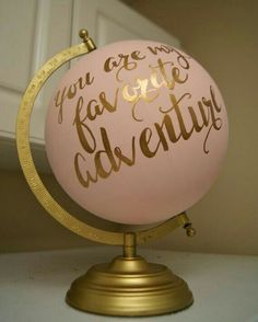 Hand Painted 12 Wedding Globe, Shabby Chic, Gold Hand Lettering Custom Made To Order is part of Girl room - Hand Painted 12 Wedding Globe, Shabby Chic, Gold Hand Lettering Custom Made To Order NurseryIdeas ShabbyChic Shabby Chic Bedrooms, Shabby Chic Homes, Shabby Chic Furniture, Shabby Chic Decor, Modern Bedroom, Girl Bedrooms, Shabby Chic Nurseries, Neutral Nurseries, Girl Nurseries