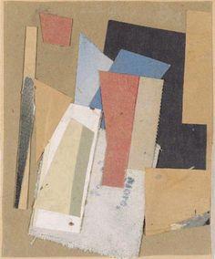 """Kurt Schwitters, """"Red Spot"""", 1947, Collage, 17 x 14 cm. Prov.: Sammlung Ernst Schwitters 1947"""