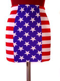 "VIVID Blueprint limited edition ""Americana"" skirt. $55.00"