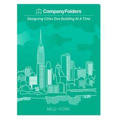 New York City Skyline Presentation Folder Template (Front View)