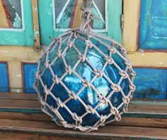 Beach Decor Ocean Blue Super Big Onion Fishing Float by SEASTYLE