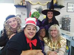 The Claremore team put on its best looks for #Halloween 2016: Shelli is the Cat in the Hat; Melanie is the Grinch; Mona is a mummy; Liz is a witch; Lisa is the meanest witch; and Cayce is the great Stevie Nicks!