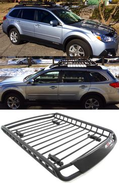 Load up for the adventure with this aerodynamic roof basket! Frees up some space inside the vehicle. Great storage idea for camping and hiking gear on the road - also compatible with the Subaru Outback Wagon. Subaru Outback Offroad, 2011 Subaru Outback, Roof Basket, Volvo, Suv Camping, Subaru Cars, Ford Ecosport, Subaru Forester, 4x4 Trucks