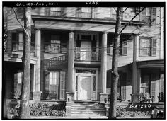 1.  Historic American Buildings Survey L. D. Andrew, Photographer Nov. 27, 1936 PORTION OF FRONT SHOWING PORTICO - Chew-Dearing-Battey House, 428 Washington Street, Augusta, Richmond County, GA