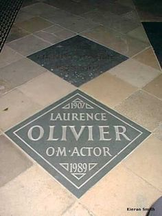 Sir Laurence Olivier - Academy Award Winning Actor. For six decades he performed in, directed, and produced Shakespearian plays, eventually being regarded as one of the foremost Shakespeare interpreters of the 20th century, and also played significant roles in film and television productions.