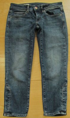 GAP 1969 Sexy Boyfriend Jeans 26 2 Swift Dark Distressed Cotton ...
