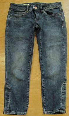 GAP 1969 Sexy Boyfriend Jeans 26 2 Swift Dark Distressed Cotton ...