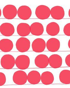 Fine Art Print  Red Dots  September 19 2012 par joreyhurley sur Etsy