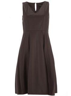 Wine Leather Look Midi Dress