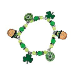 """ST. PATRICK's DAY CHARM BRACELET - Age 7+ -  - """"I got these for a 7 year old party as a craft and the girls were delighted with them. They were very easy and they look great on. A keeper!"""""""