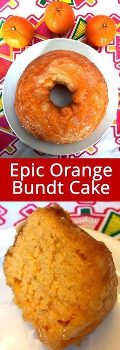 Moist Orange Bundt Cake Recipe From Scra. - This easy orange bundt cake recipe is amazing! Made totally from scratch, no cake mix and really ea - Orange Bundt Cake, Orange Cakes, Bunt Cakes, Cake Recipes From Scratch, Pound Cake Recipes, Food Cakes, Sweet Cakes, Clean Eating Snacks, Granola