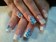 French Nail Art Designs | Flower French Nail Art Design by Shannon Dunham, Get Hooked on Nails ...