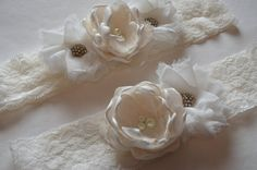 Shabby Chic  Garter and Toss Garter Set in by TheVintageCabbgeRose, $30.00