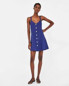 e49d381c2da5 ZARA - WOMAN - STRAPPY LINEN DRESS Zara Femme Robe, Bretelles, Fringues,  Robe