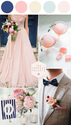 A wedding where blush meets blue and there's the perfect mix of preppy and pretty? This is the kind of stuff that weddings are made of, y...