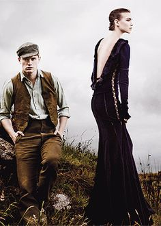 .:  Call in the Cavalry  |  Jeremy Irvine & Arizona Muse for Vogue  :.