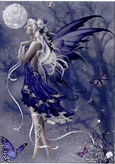 Blue Nocturne ~ Nene Thomas -Luna Lovegood in fairy form. I love the dress, though!