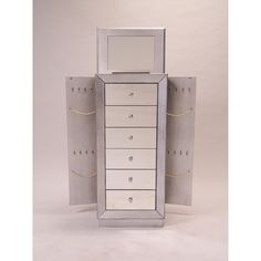 Hives And Honey Landry Jewelry Armoire With Mirror House