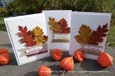 Herbstliche Karte mit Stampin' Up! - Vintage Leaves - Herbst - Laub