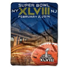 Super Bowl 2014 Grand Central Raschel Throw