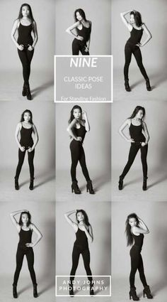 9 Standing poses for your next fashion photo shoot. Standing poses are essential skills for any model! Studio Photography Poses, Studio Poses, Fashion Photography Poses, Free Photography, Newborn Photography, Photography Reflector, Photography Journal, Photography Reviews, Portrait Photography Tips