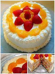 Chinese fruit sponge cake - good and detailed instructions, but no pictures.